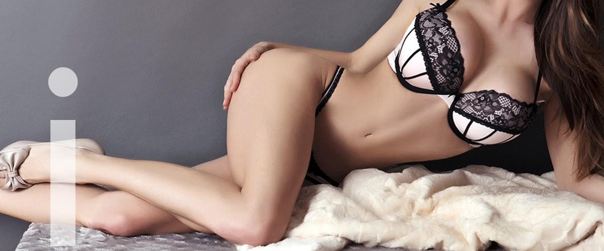 Irene escort en Madrid tumbada mostrando toda su sensualidad.